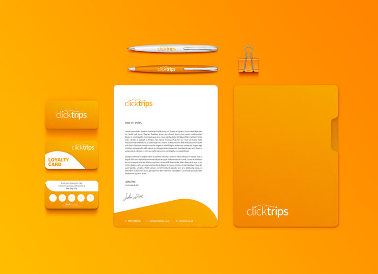 ClickTrips Brand Design Stationery