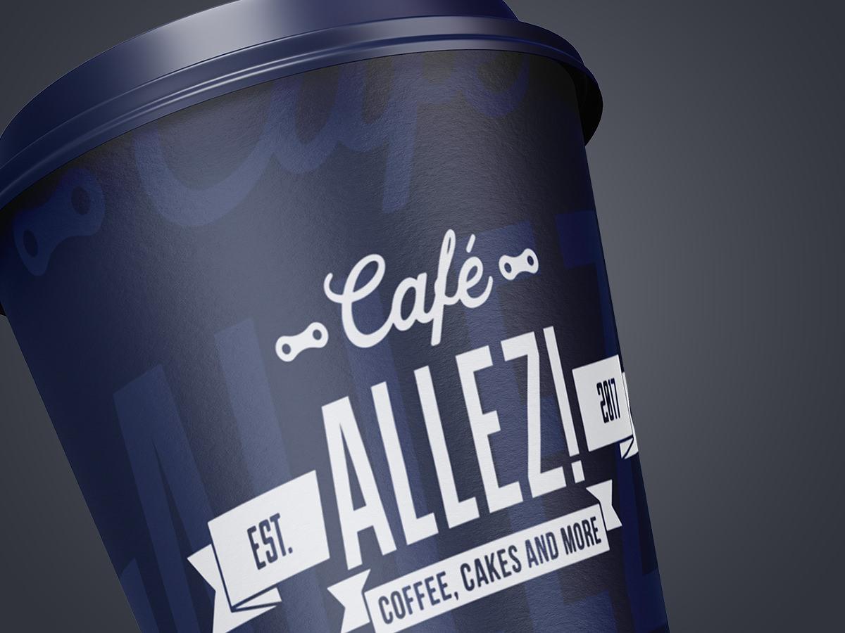 Café Allez! Paper Cup Design